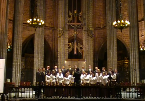 Concert in Cathedral of Barcelona 2011 The ATH Choir of Bielsko-Biala T.Sarsany- Salve Mater Misericordiae